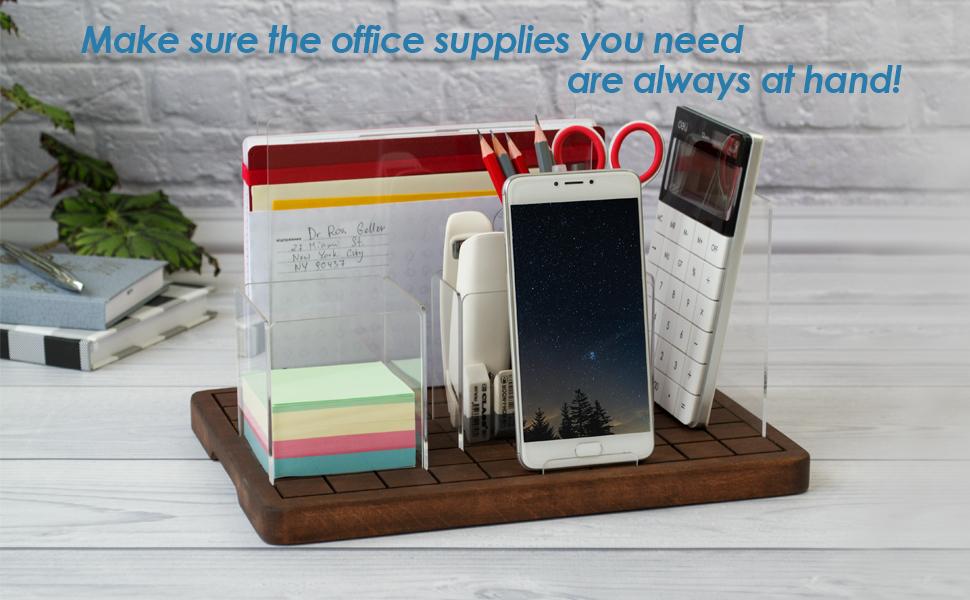 Wood acrylic stand