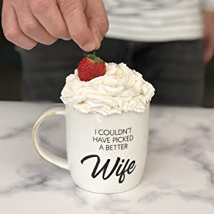 romantic gifts for her unique, best wife ever mug, best wife coffee mug,  wife gifts from husband