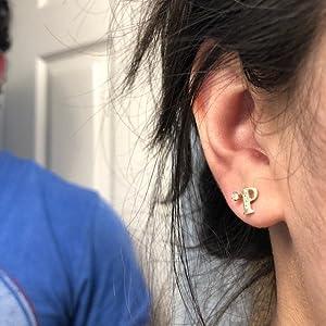 initial earrings