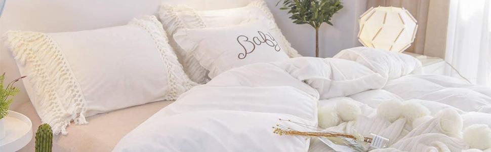 boho tassel bedding