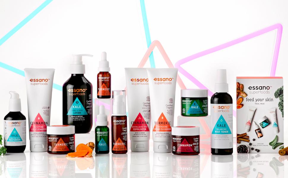 essano superfoods skin care range
