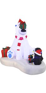 6 FT Inflatable Polar Bear