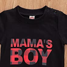 Baby Boys Pullover Sweatshirt MAMAS BOY Letter Tops Shirt Toddler Boy Fall Cotton Blouse Clothes
