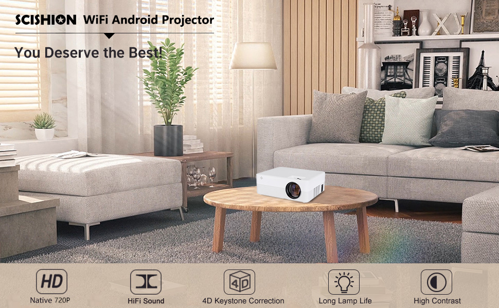 Full function smart projector built in android modulus The smart projector have complete smart