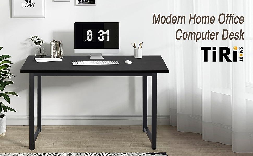 black computer desk bar