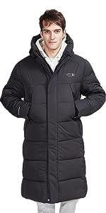 Long puffer coat jacket for men winter