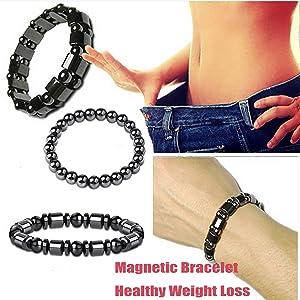 This bracelet set includes 4pcs different styles and designs, distinct shaped black gallstones match