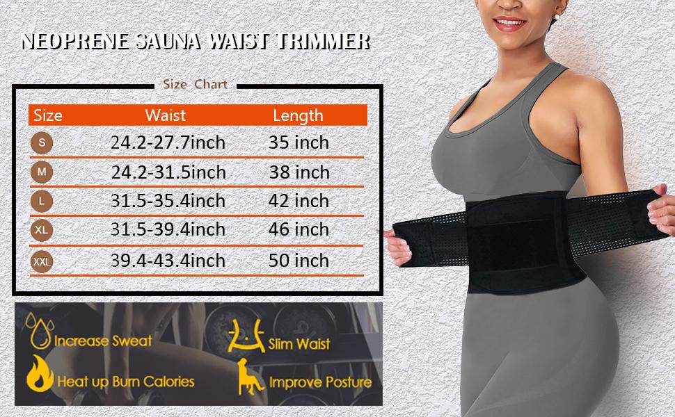 SAUNA WAIST TRAINER FOR WOMEN
