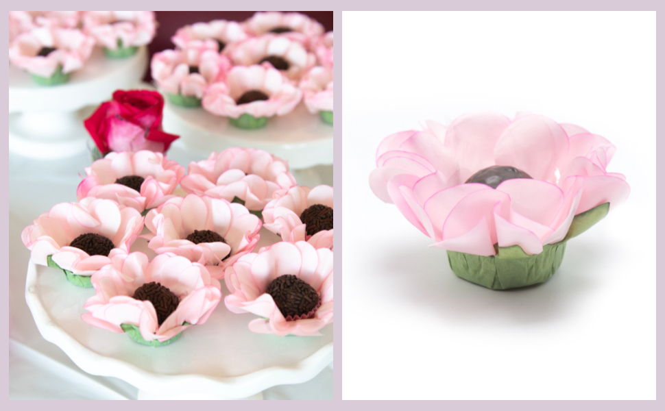cake balls candies any party bite size dessert favor boxes 20 Pieces Flower Truffle Wrappers  for holding chocolate truffles