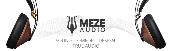Meze Audio, Meze Headphones, Meze 99 Classics Walnut Gold , Wooden Ear cups, High Quality , Music