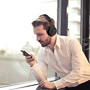 foldable wireless headphones over ear design rotatable earmuffs bluetooth 5.0 compatible iphone xr