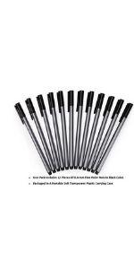 Mr. Pen- Pens, Fineliner Pens, 12 Pack Black Pen