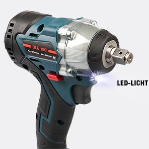 1//2 Zoll Automatisches mit Makita 18V Lithium Akku kompatibles Elektrowerkzeug mit LED Licht RSEB BLE18B 18V kabelloser b/ürstenloser Li-Ion Schlagschrauber mit 4 Umdrehungen
