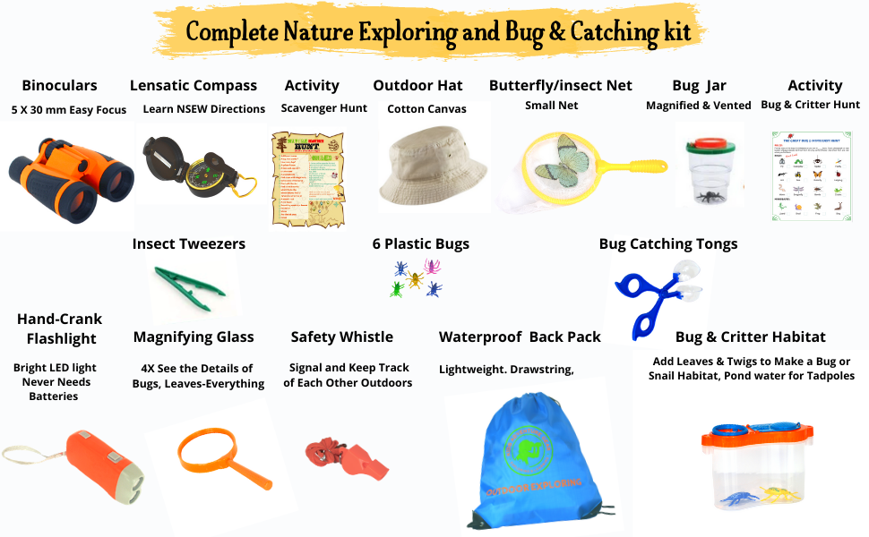 21 pieces of the nature explorer and bug catching kit