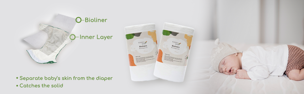 kawaiibaby diaper liner bamboo diaper liner biodegradable unscented diaper liners