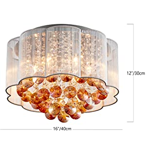 chandelier dimensions