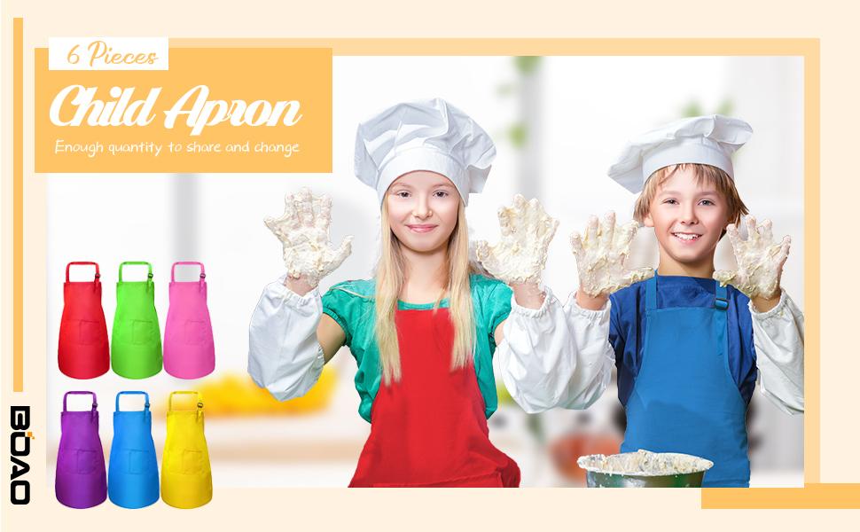 Kitchen apron child embroidery machine I am the chef unique piece