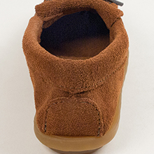 real shoe size slip slipon soft sole suede up zapatos brown handmade genuine padded gift