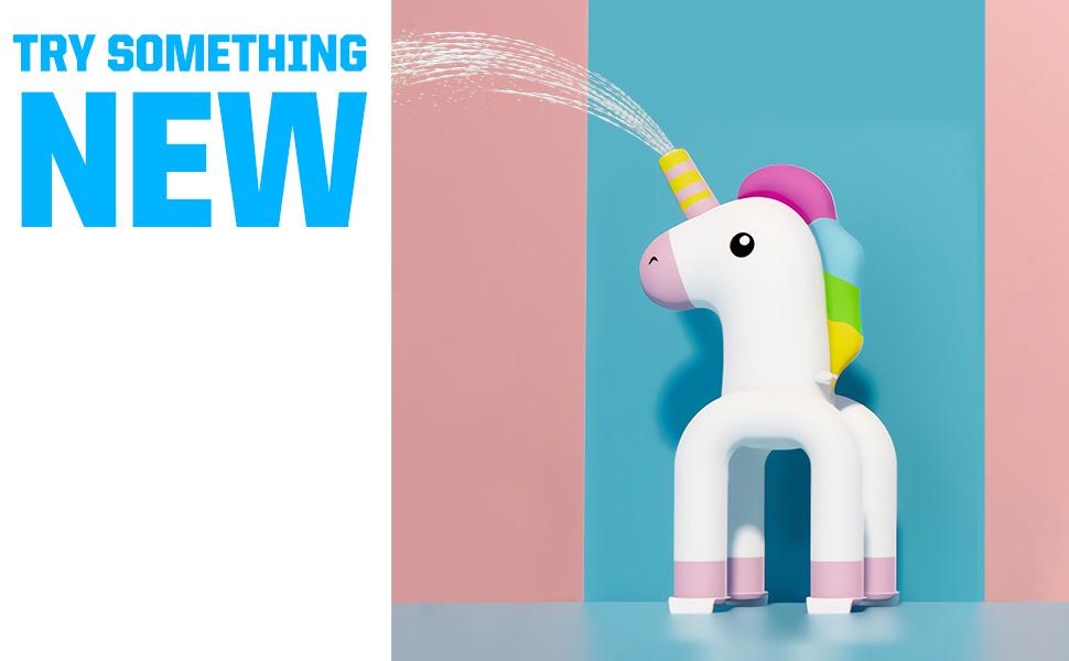 Unicorn Sprinkler Toy for Inflatable Kiddie Swimming Pool