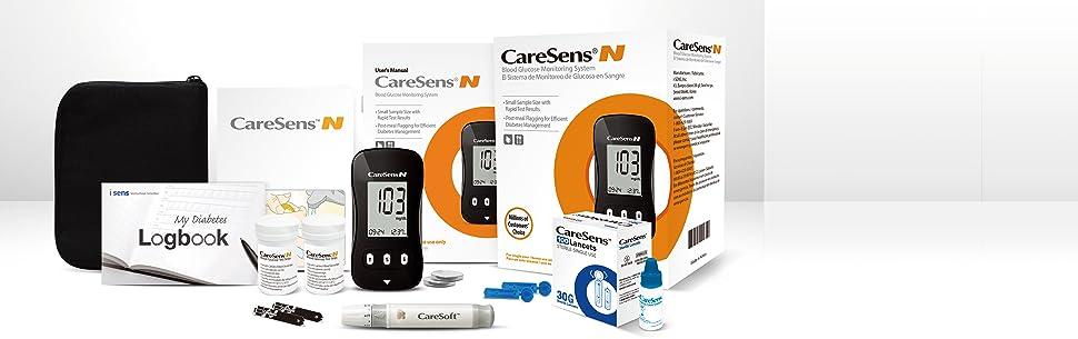 CareSens, caresens n, diabetes meter, glucometer, glucose meter, diabetes test
