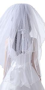 White First Communion Veil