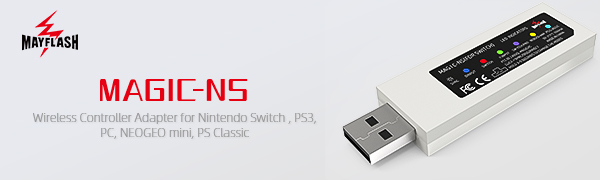 MAYFLASH MAGIC NS Wireless and Wired Controller Adapter for Switch, Windows, PS3, NEOGEO mini