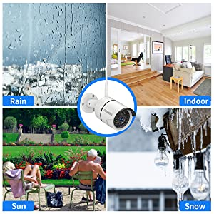 ip67  【8CH Expandable.Audio】 Security Camera System Wireless Outdoor, 8 Channel 1080P NVR with 1TB Hard Drive, 4Pcs 1080P CCTV Cameras for Home,OHWOAI Surveillance Video Security System,Outdoor IP Cameras 441a4551 fe76 4900 9730 6ce9f3f77e5d