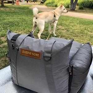 Separated dog car seat