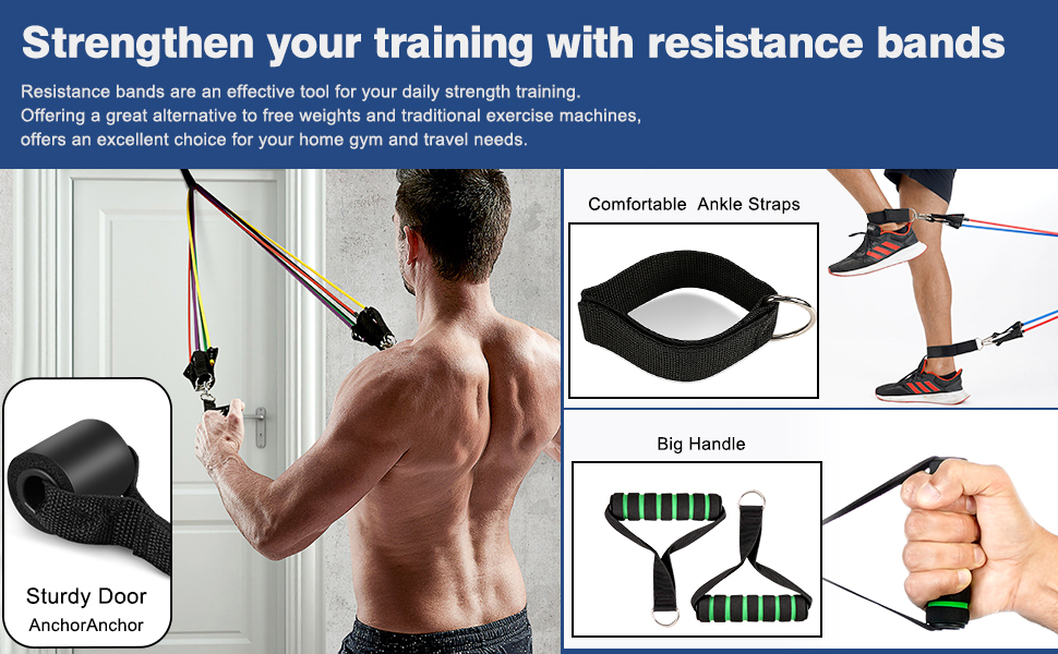 excersize bands,resistance bands with handles