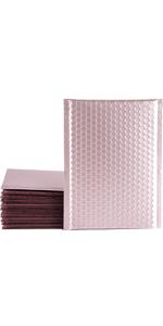 "XCGS 6x10"" Pink Metallic Bubble Mailer"