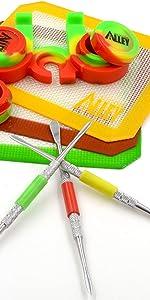 Rasta Color Theme Non-Stick Carving Kit