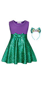 Cotrio Green Fairy Tale Princess Dress Birthday Party Fancy Dresses Toddler Kids Halloween Costume Outfits with Crown Scepter