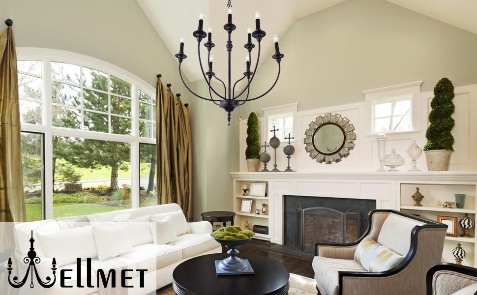 modern farmhouse chandelier