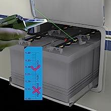 Detecting battery fluid