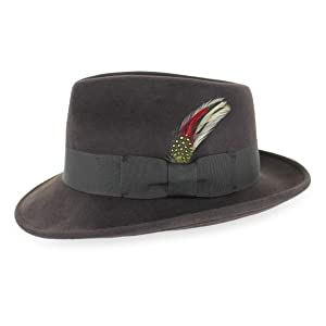 gangster fedora chocolate brown