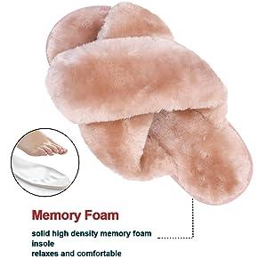 memory foam slipper for womens