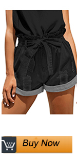women tie knot denim shorts