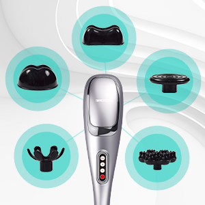 Interchangeable Nodes Customize you massage by interchanging the nodes to find the most comfortable