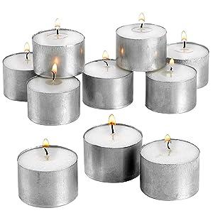tealight candles, tea light candles 8 hour burn time, tealight candles 8h