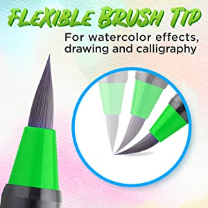 Watercolor brush pen markers real brush tips Crafty Croc
