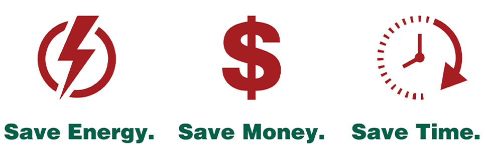save time money energy cost efficient go green