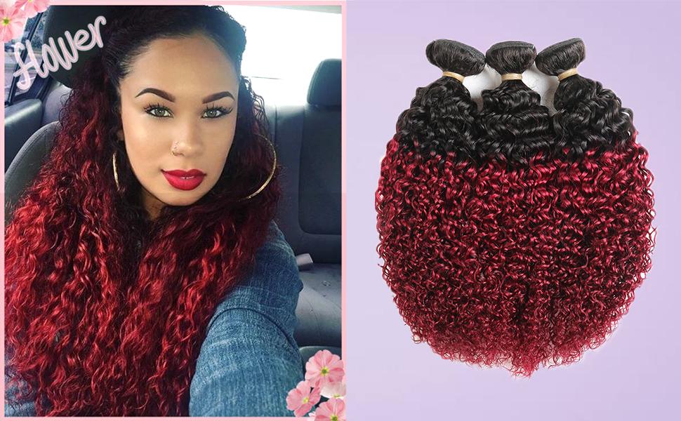 kinky curly hair extension bundles