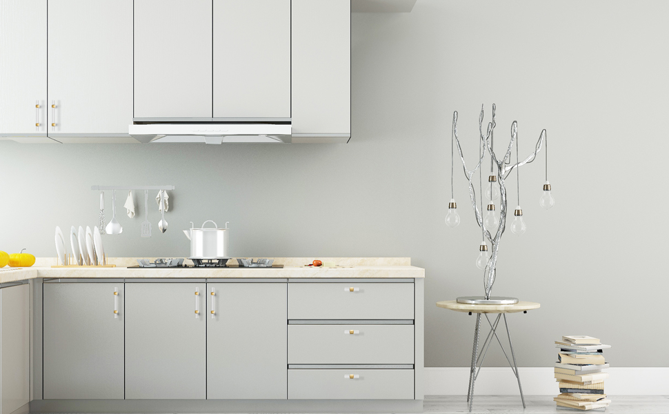 white cabinets with brushed gold hardware