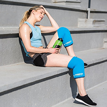 Freeze Sleeve, Leakproof, cold, compression, design, therapy, injury, multiple, areas, arms, legs