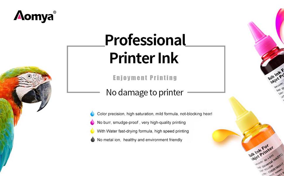 Aomya Refill Ink Kit 100ml for HP 61 60 62 63 950 951 564 920 901 Inkjet Printer Cartridges for Refillable Ink Cartridges or CIS CISS System 4 Color ...