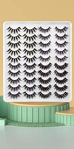 20 pairs 4 styles mixed of false lashes