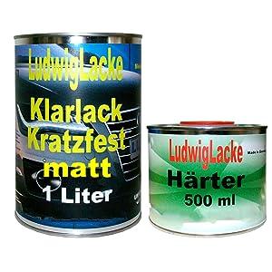 Ludwig Lacke Ms Klarlack Matt Set Für Autolacke Und Effektlack 1 5 Liter Auto