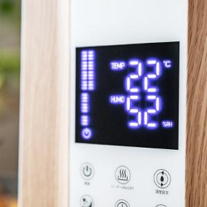 タッチパネル&温度・湿度表示機能