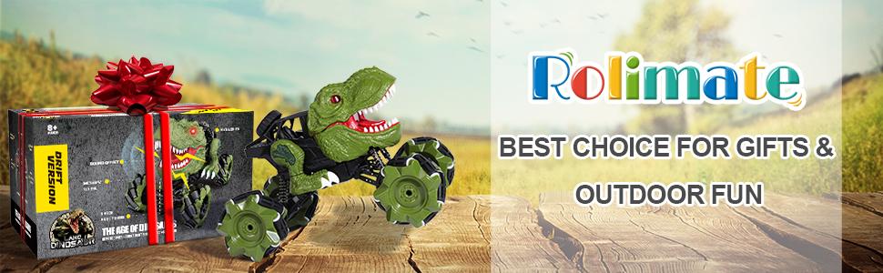 Remote control car toy car Boy toy dinosaur toys RC car kids toys Birthday gift 1:18 drift car