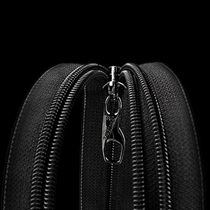 travel backpack with ykk zippers